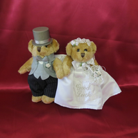 Wedding Bride and Groom teddies,Wedding Day Gift