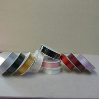 A Reel of 25mm Satin Ribbon, Double Faced x 25 metres long ,10 Colours available