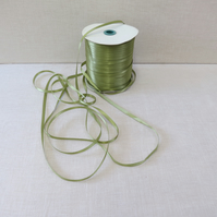 7mm double sided satin ribbon Moss Green x 5 metres