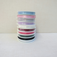 Reel of 10 mm double faced ribbon ,25m length roll ,Choice of colours