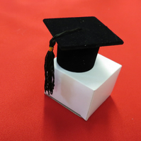 Graduation Mortar Board 2.5 inch x 2.5 inch -cake decoration,  or favour gift