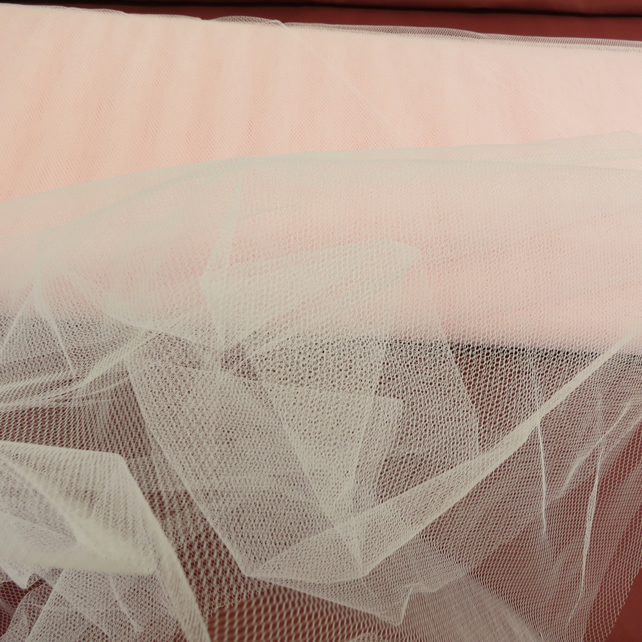 Pale Pink Net fabric, Material netting, Petticoat Net, Sold By the Metre