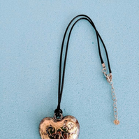 Gold and silver large heart choker handmade jewellery