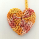 Heart Tiny Ties - Umbilical Cord Tie - Multicoloured Lemon Yellow Orange Peach