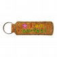 Childrens Cork Bag Tag Keyring Accessory I Am Perfect Pink Starflower