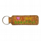 Childrens Cork Bag Tag Keyring Accessory I Am Beautiful Pink Heart