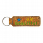 Childrens Cork Bag Tag Keyring Accessory I Am Beautiful Blue Star