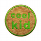 Childrens Cork Patch Cool Kid Sew-On Patch Green