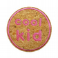 Childrens Cork Patch Cool Kid Sew-On Patch Pink