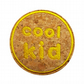 Childrens Cork Patch Cool Kid Sew-On Patch Yellow