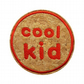 Childrens Cork Patch Cool Kid Sew-On Patch Red