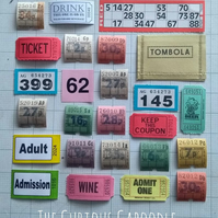 Ticket Ephemera Packs 25 Pieces Mix of Modern and Vintage Scrapbook Kits Collage