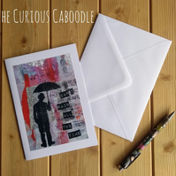 Can't Rain All the Time Quirky Greetings Card Art Print