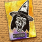 Witch Face Vintage Halloween Themed ACEO Miniature Art, Collage and Mixed Media