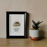Mini Personalised House Portrait - Watercolour Painting
