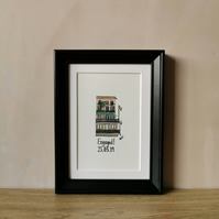 Mini Personalised Engagement Gift - Watercolour Painting