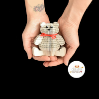 Miniature Teddy Bear Book Ornament