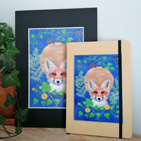 Fox Illustration A5 Hardback Notebook