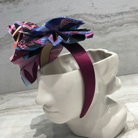 Handmade Fabric Headband made with Moda Tiger Print Fabric - 027 Edition