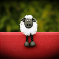Polymer Clay Sheep Bookmark