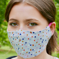 Reversible, Reusable, 100% Face Masks with Adjustable Elastic Attachments