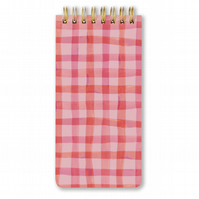 CHECKERED SPIRAL NOTEPAD - Hardcover - Spiral