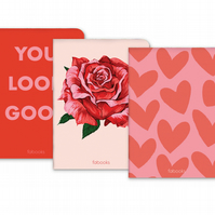 Romantic - Set Of 3 - Notebooks