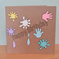 Splatter  Birthday Card