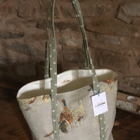 Gorgeous pheasant country style open tote bag