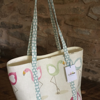 Gorgeous Flamingo open tote bag, ideal gift for flamingo lovers
