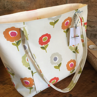 Funky Floral scandi style open tote bag, ideal birthday present