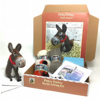 Dinky Donkey Needle Felting Kit