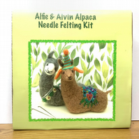 Alfie and Alvin Alpaca Needle Felting Kit