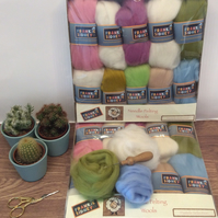 Pastel colours Felting Wool pack