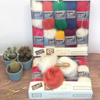 Vibrant colours Felting Wool pack.