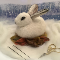 Baby Snow Hare Needle Felting Kit