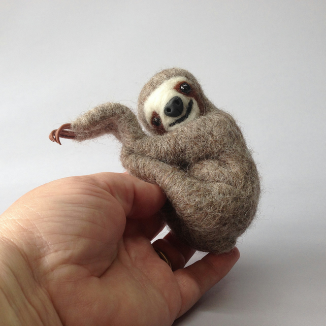 Felted Sloth Character Sonny