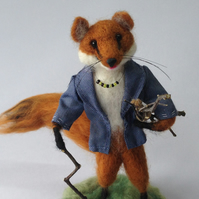 Felted Fox Character Mrs Fox