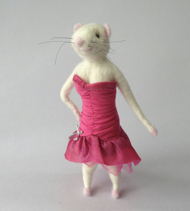Felted Mouse Character Martina Mouse