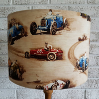 Racing Car Fabric Lampshade,boys decor,men's decor,motor racing decor,Formula 1