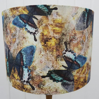 Butterfly Fabric Lampshade,Drum Lampshade, Butterfly Decor