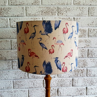 Flamingo Lampshade, Fabric Flamingo Print Lampshade