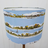 Blue Nautical Themed Lampshade, seaside decor, summer decor, boats, river