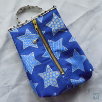 Blue Stars Zipper Pouch