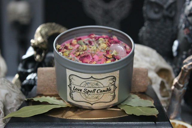 Love Spell Candle - Cures & Curses Witchcraft