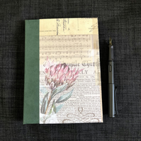 Vintage look A5 hardback notebook