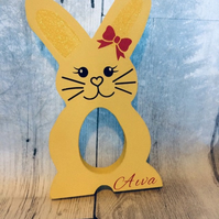Freestanding mdf letters in rabbit design, bunny, childrens Easter decor, kinder