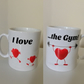 """I love ...the Gym"" Mug. Funny mugs for people who love gyms"