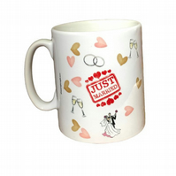 """Just Married"" Wedding Gift Mug. Mugs for newlyweds"