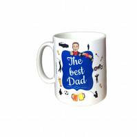 The Best Dad Gift Mug. Mugs for Father's day, Birthday or Christmas.